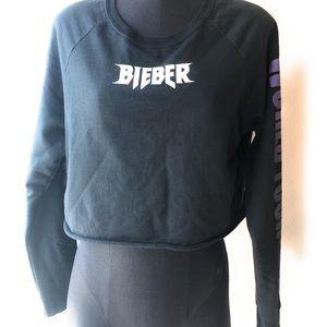 Purpose Tour XL Bieber World Tour L/S Crop Top